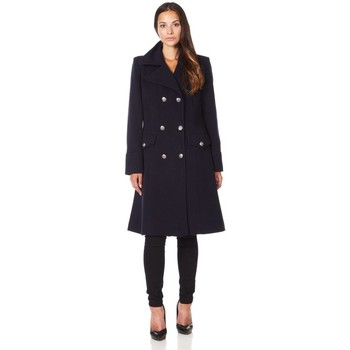 Vêtements Femme Manteaux De La Creme Manteau d'hiver militaire en laine cachemire Black