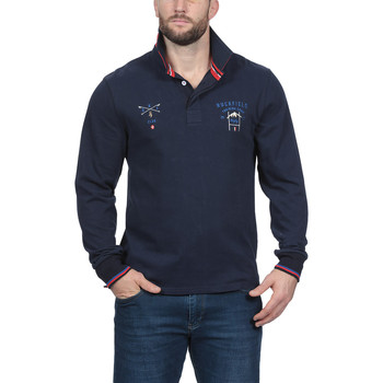 Vêtements Homme Polos manches longues Ruckfield Polo outdoor rugby ski Bleu