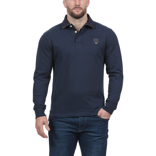 Polos De Ruckfield Longues Bleu Rugby Marine Homme Manches Polo 5RLj3A4