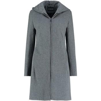 Vêtements Femme Manteaux De La Creme Manteau d'hiver à capuche en laine cachemire Grey