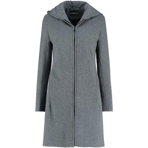 94c337eabc Vêtements Femme Manteaux De La Creme Manteau d'hiver à capuche en laine  cachemire Grey