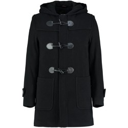 Vêtements Manteaux De La Creme Manteau d'hiver en cachemire à capuche en laine Black