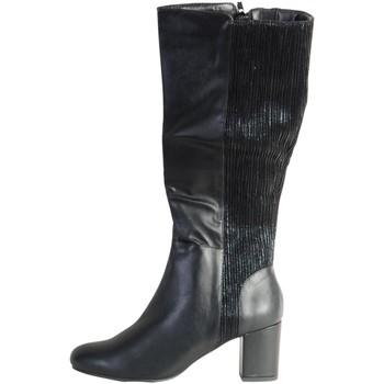 Chaussures Femme Bottes ville The Divine Factory Botte Noir