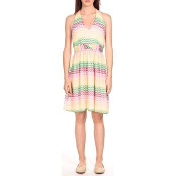 Vêtements Femme Robes courtes Vero Moda robe MIAMI  Barriolée Multicolore Multicolor