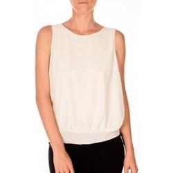 Vêtements Femme Débardeurs / T-shirts sans manche Vero Moda BELFAST SL TOP EA écru Beige