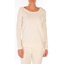 Vêtements Femme Pulls Petit Bateau Sweat Shirt en coton enflammé beige coquille Beige