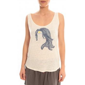 Vêtements Femme Débardeurs / T-shirts sans manche Blune Débardeur Superpower SP-DF01E13 Écru Beige