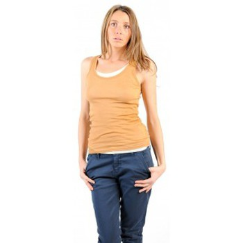 Vêtements Femme Débardeurs / T-shirts sans manche American Vintage DEBARDEUR MAS00E11 CUMIN Jaune