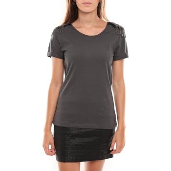 Vêtements Femme T-shirts manches courtes Vero Moda Barut SS Top 96915 Anthracite Gris