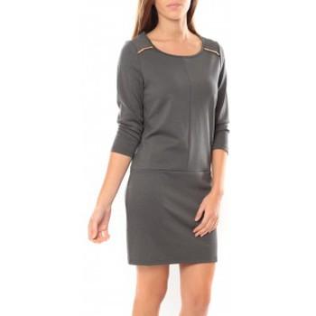 Vêtements Femme Robes courtes Vero Moda Greg 3/4 Short Dress 10098979 Anthracite Gris
