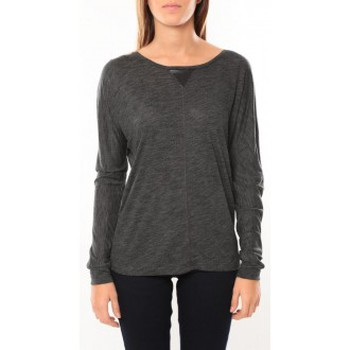 Vêtements Femme T-shirts manches longues Vero Moda Point l/s Top it 10100690 Anthracite Gris