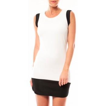 Vêtements Femme Robes courtes Vero Moda Signe S/L Mini Dress 10111107 Blanc/Noir Noir