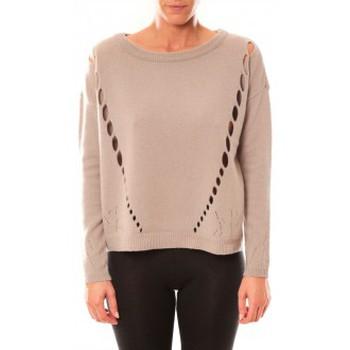 Vêtements Femme Pulls Vero Moda Parma New LS Oversize Blouse 10119636 Écru Beige