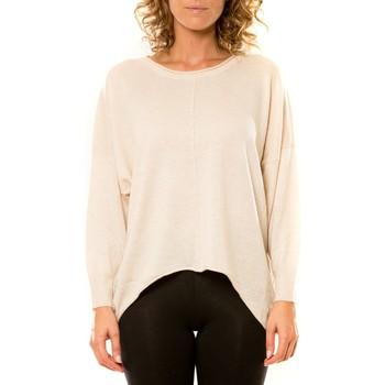 Vêtements Femme Pulls Vision De Reve Vision de Rêve Pull 12021 Écru Beige