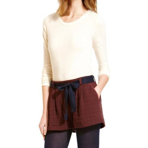 Vêtements Femme T-shirts manches longues Petit Bateau T-shirt Manches Longues 10622 522 Écru Beige