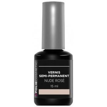 Beauté Femme Vernis à ongles Folie Cosmetic - Vernis Semi-permanent Nude Rosé - 15 ml Rose
