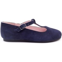 Chaussures Fille Ballerines / babies Boni Classic Shoes Ballerine en daim à bride - SALOME II Daim Bleu Marine