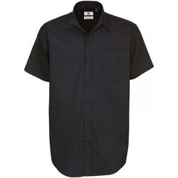Vêtements Homme Chemises manches courtes B And C Sharp Noir