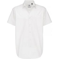 Vêtements Homme Chemises manches courtes B And C Sharp Blanc