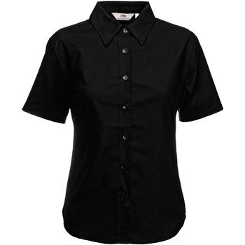 Vêtements Femme Chemises / Chemisiers Fruit Of The Loom Oxford Noir