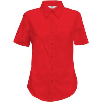 Vêtements Femme Chemises / Chemisiers Fruit Of The Loom Poplin Rouge