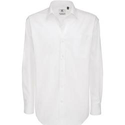 Vêtements Homme Chemises manches longues B And C Sharp Blanc
