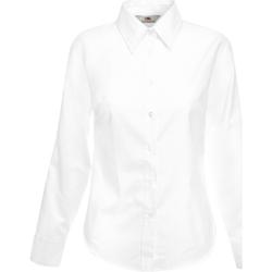 Vêtements Femme Chemises / Chemisiers Fruit Of The Loom Oxford Blanc
