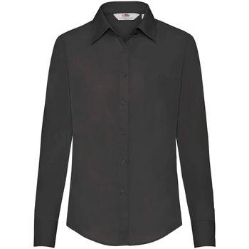 Vêtements Femme Chemises / Chemisiers Fruit Of The Loom Poplin Noir