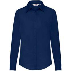 Vêtements Femme Chemises / Chemisiers Fruit Of The Loom Poplin Bleu marine