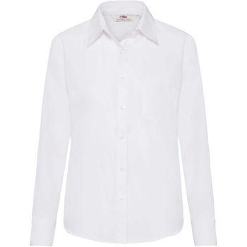 Vêtements Femme Chemises / Chemisiers Fruit Of The Loom Poplin Blanc