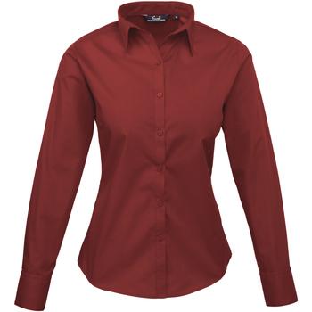 Vêtements Femme Chemises / Chemisiers Premier PR300 Bordeaux