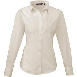 Vêtements Femme Chemises / Chemisiers Premier PR300 Blanc cassé