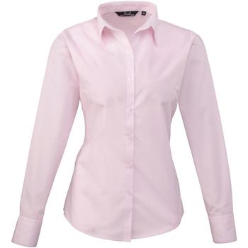 Vêtements Femme Chemises / Chemisiers Premier PR300 Rose pâle