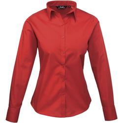 Vêtements Femme Chemises / Chemisiers Premier Poplin Rouge foncé