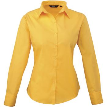 Vêtements Femme Chemises / Chemisiers Premier PR300 Jaune foncé