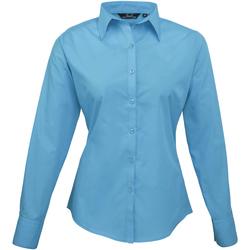 Vêtements Femme Chemises / Chemisiers Premier Poplin Turquoise