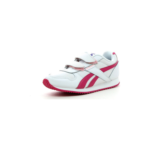 Reebok Sport Royal Classic Jogger 2 Blanc-Rose - Chaussures Baskets basses Femme