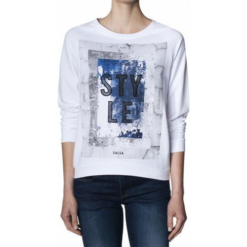 Vêtements Femme T-shirts manches longues Salsa T-Shirt  ROSS manches longues Blanc