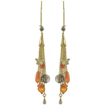 Montres & Bijoux Femme Boucles d'oreilles Franck Herval Boucles d'oreilles  COLCHIC crochet XL multi chaines Noir