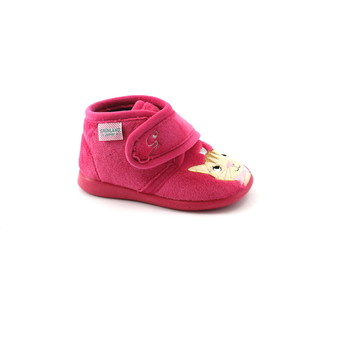 Chaussures Enfant Chaussons Grunland DALY PA1051 fuxia pantoufles fille snatch chaton Rosa