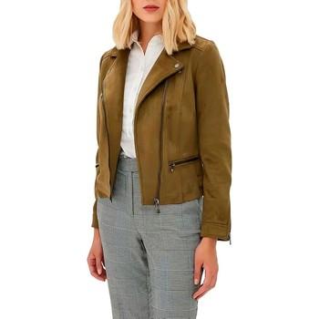 Vêtements Femme Blousons Only onlLUNA FAUX SUEDE BONDED BIKER vert