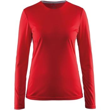 Vêtements Femme T-shirts manches longues Craft CT89F Rouge
