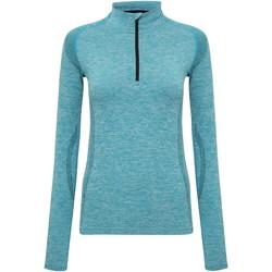 Vêtements Femme T-shirts manches longues Tridri Performance Turquoise