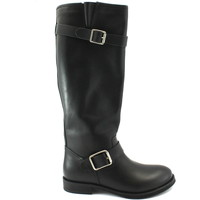 Chaussures Femme Bottes ville Naye 110450 noir bottines femme boucles en cuir lisse Nero