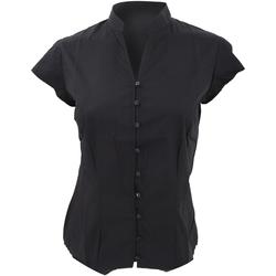 Vêtements Femme Chemises / Chemisiers Kustom Kit Mandarin Noir