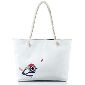 Sacs Femme Cabas / Sacs shopping Andie Blue Cabas collection BIRD MARIN A8330 Blanc