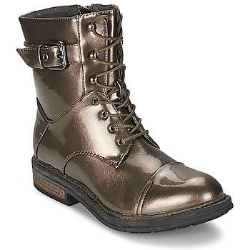 Chaussures Femme Boots Les P'tites Bombes STONE Argent