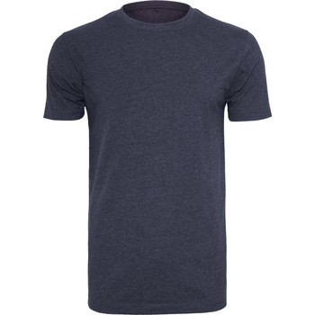 Vêtements Homme T-shirts manches courtes Build Your Brand BY004 Bleu marine