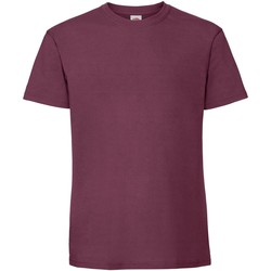 Vêtements Homme T-shirts manches courtes Fruit Of The Loom Premium Bordeaux