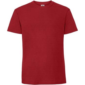 Vêtements Homme T-shirts manches courtes Fruit Of The Loom Premium Rouge